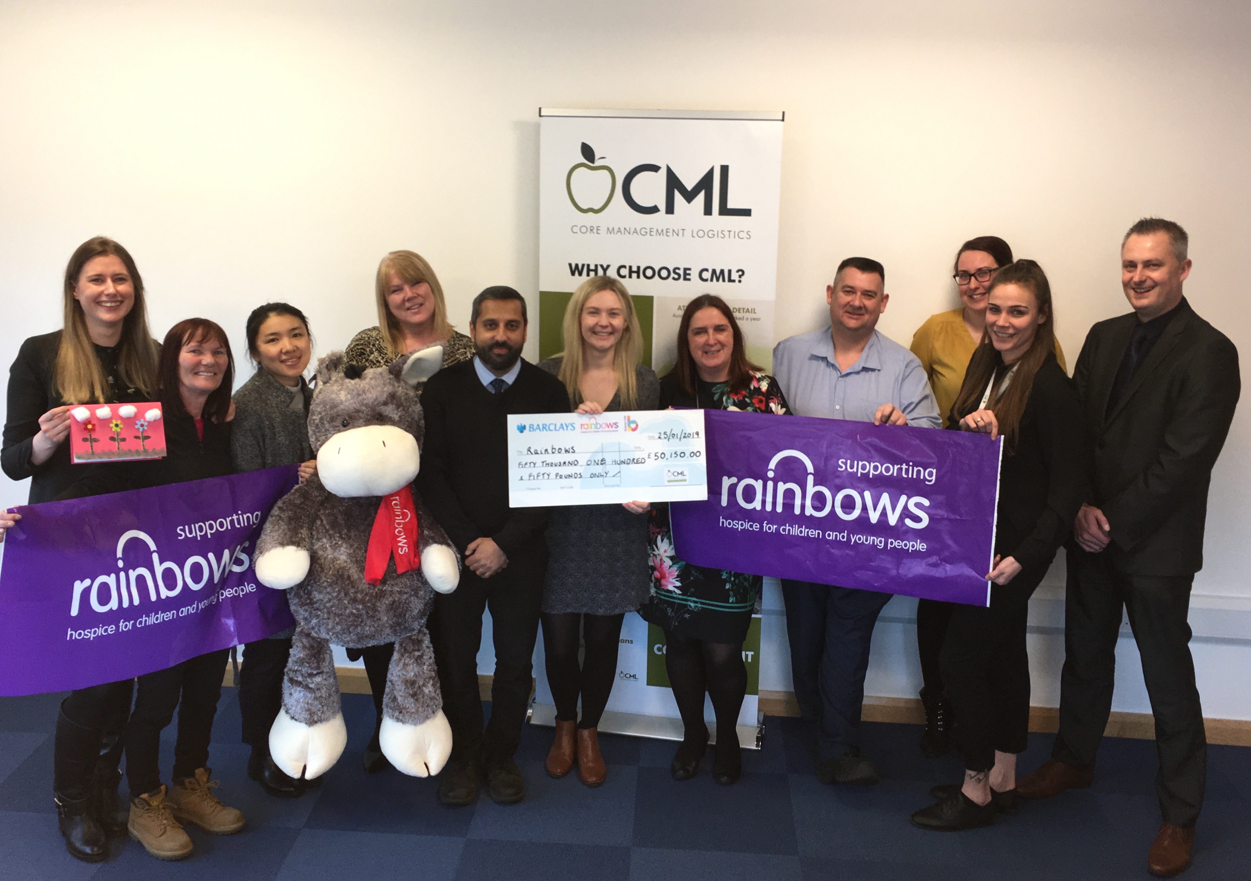 CML Raises Over £50,000 For Rainbows