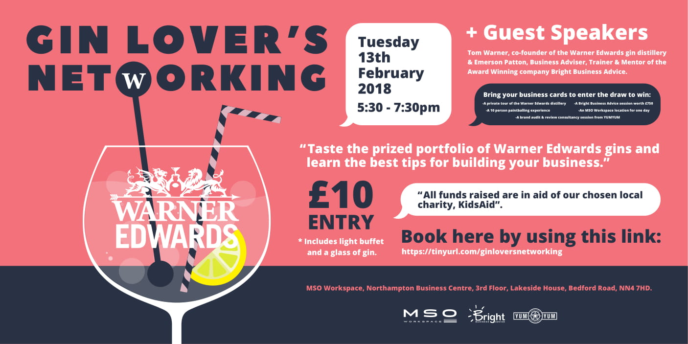 Gin Lovers Networking Event 2018 | Northamptonshire Chamber
