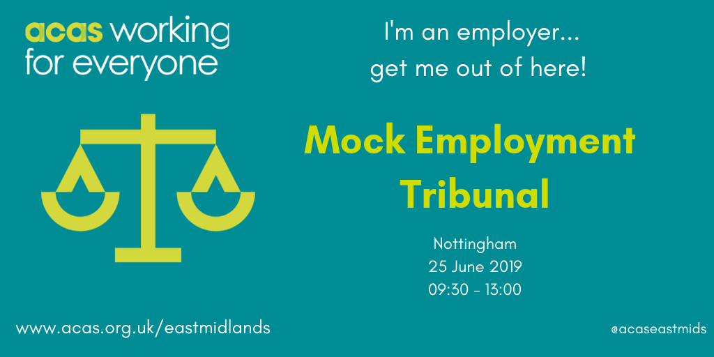 Mock Employment Tribunal - great chance to observe
