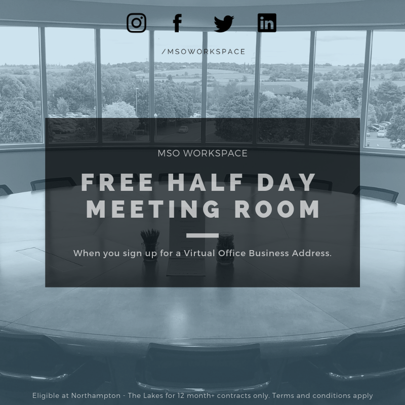 FREE Meeting Room with a Virtual Office Package!